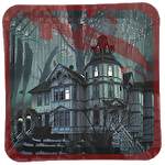 Spooky horror house icon