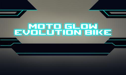 Moto glow: Evolution bike Symbol