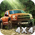 SUV 4x4 offroad rally driving Symbol