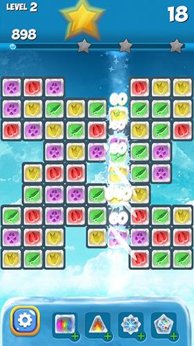 3 Gewinnt-Spiele Polar fox: Frozen match 3 auf Deutsch