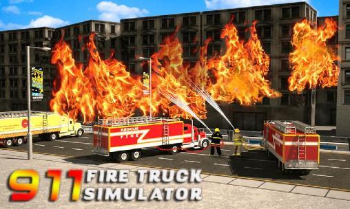 911 rescue fire truck: 3D simulator скріншот 1