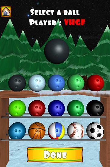 Sport Bowling Xmas für das Smartphone