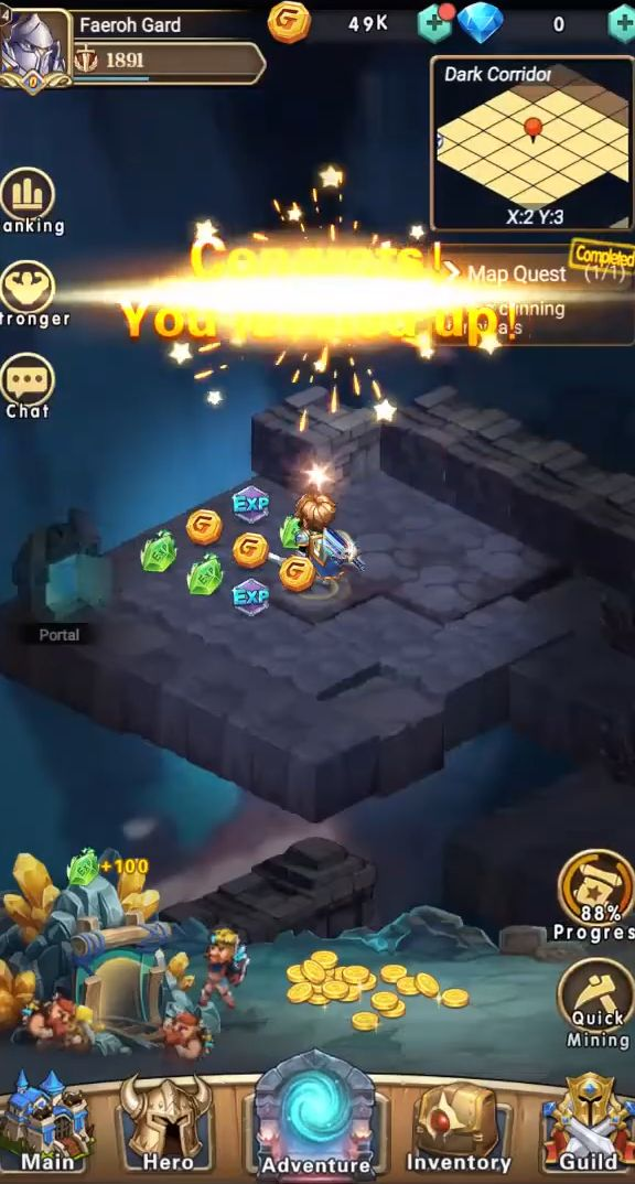Brave Dungeon: Roguelite IDLE RPG captura de tela 1