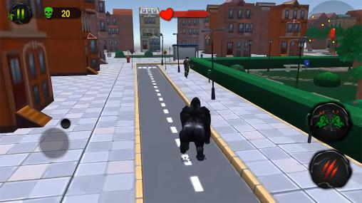Ultimate gorilla rampage 3D screenshot 2
