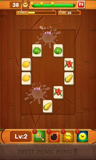 Mahjong-Spiele Fruit pong pong 3 auf Deutsch
