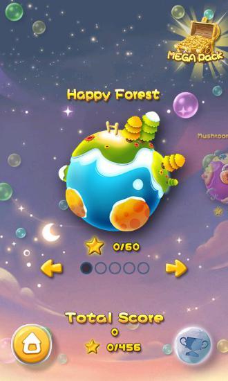Arcade Bubble bust! Popping planets für das Smartphone