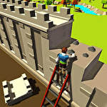 Security wall construction game icono