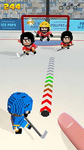 Blocky hockey: Ice runner для Android