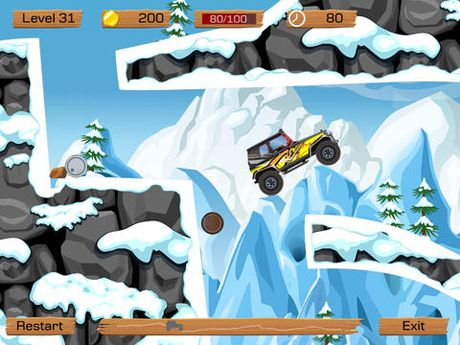 Arcade-Spiele: Lade Querfeldein im Schnee auf dein Handy herunter