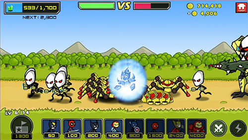 Heroes wars: Super stickman defense for Android