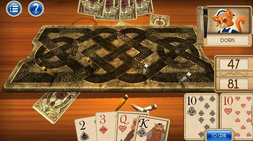 Karten-Spiele Aces cribbage auf Deutsch