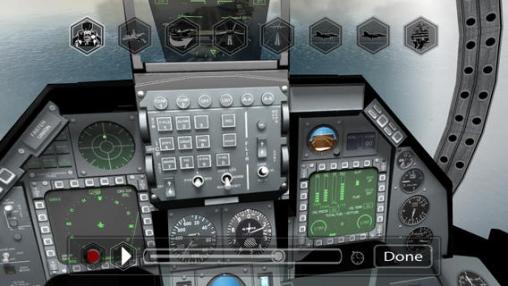 Скриншот Ф18 пилотный тренажер на Айфон