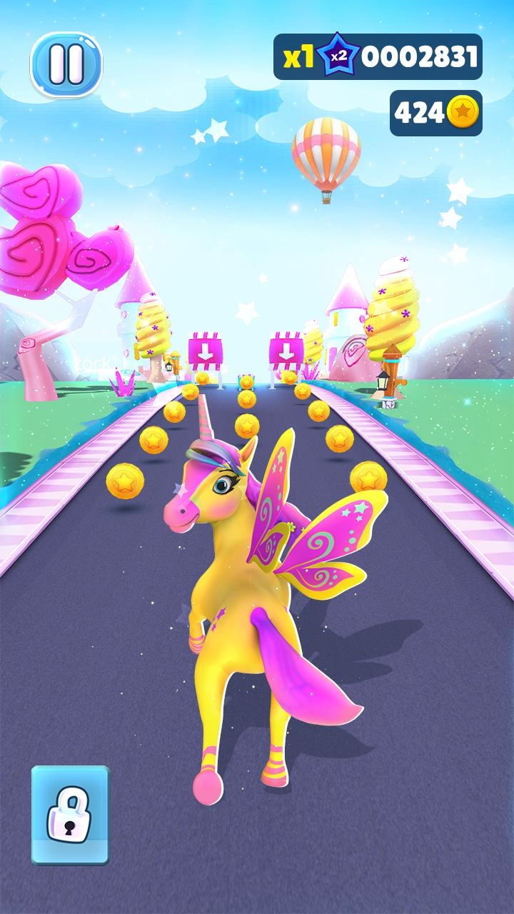 Magical Pony Run - Unicorn Runner capture d'écran 1