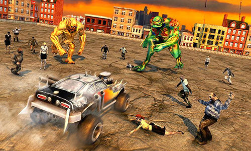 Zombie car smash derby für Android