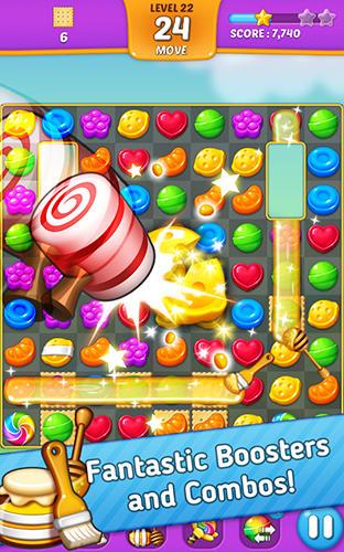 Lollipop: Sweet taste match 3 für Android