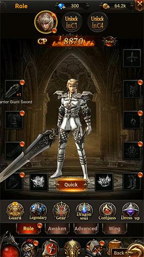RPG Dark emperor: Holy hunter pour smartphone