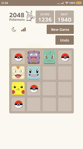 2048 Pokemons auf Deutsch