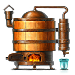 Alcohol factory simulator Symbol