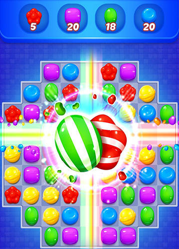 Sweet candy witch: Match 3 puzzle скріншот 1