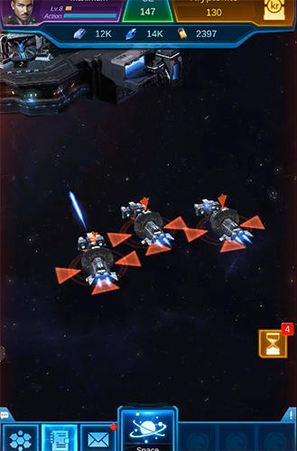 Online Galaxy battleship für das Smartphone