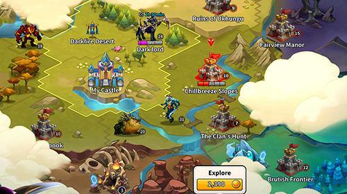 Strategie RPG Legends at war! by Social point auf Deutsch