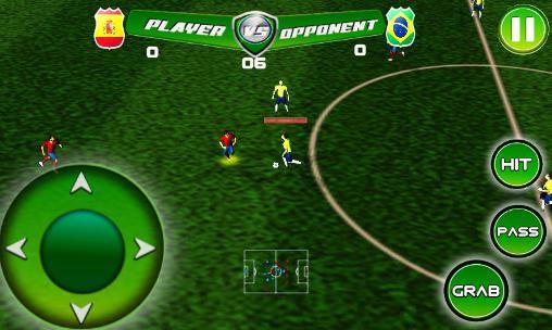 Real football tournament game英语