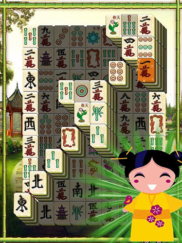 Solitär Mahjong solitaire sakura auf Deutsch