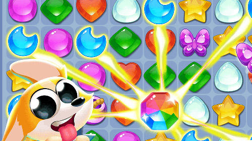 Cute dog: Diamond crush für Android