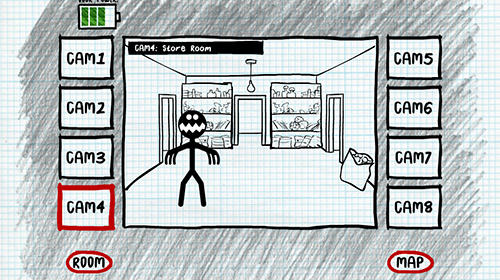 Actionspiele Stickman five nights survival für das Smartphone