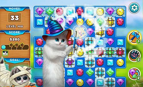 3 Gewinnt Cute cats: Magic adventure auf Deutsch