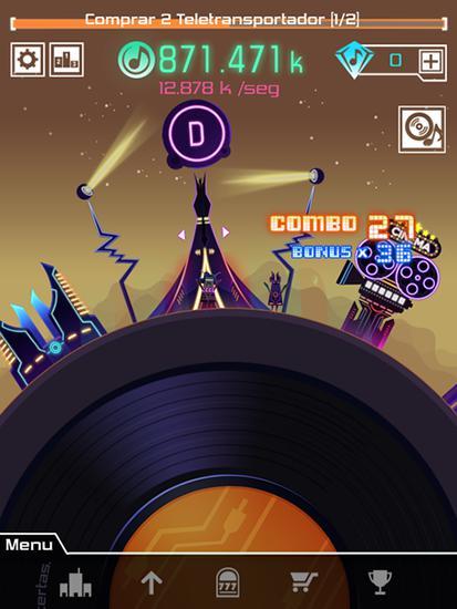 Arcade Groove planet für das Smartphone