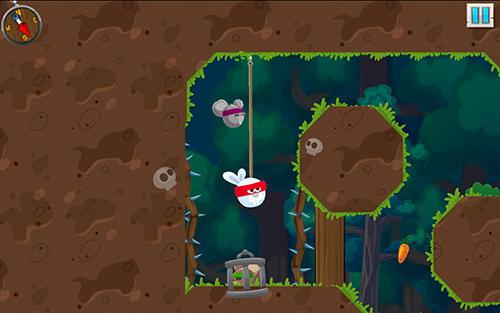 Arcade-Spiele Rabbit samurai: Rope swing hero für das Smartphone