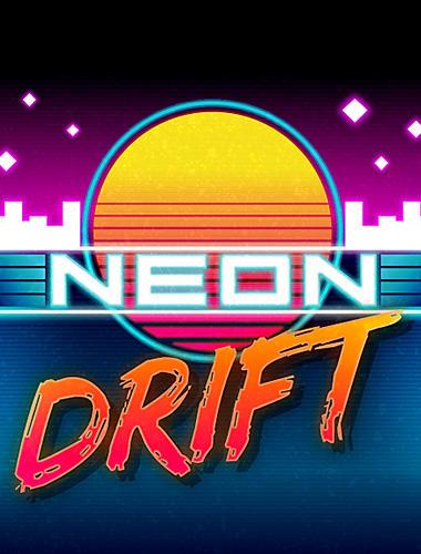 Neon drift: Retro arcade combat race icon