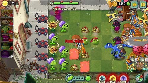 Strategiespiele: Lade Pflanzen vs. Zombies 2: Moderner Tag auf dein Handy herunter