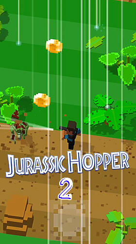 Jurassic hopper 2: Crossy dino world shooter capturas de pantalla