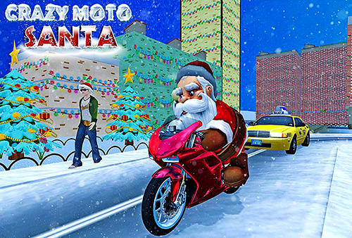 Crazy Santa moto: Gift delivery Screenshot