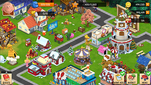 Peanuts. Snoopy's town tale: City building simulator pour Android