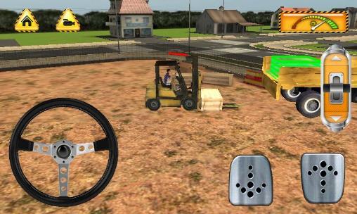 Building games Construction: Trucker 3D sim in English