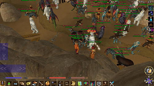 MMORPG games Eternal lands in English