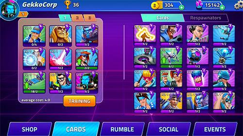 RPG-Spiele Rumble heroes für das Smartphone