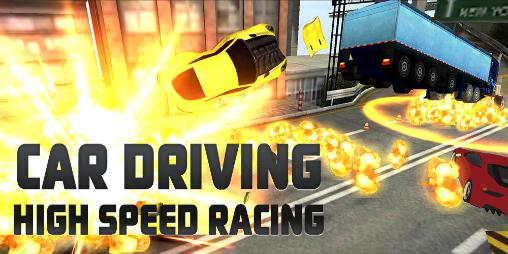 Car driving: High speed racing icon