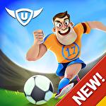 Kick and goal: Soccer match Symbol
