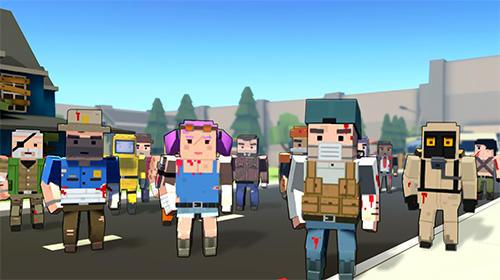 Actionspiele Pixel block gunner online für das Smartphone