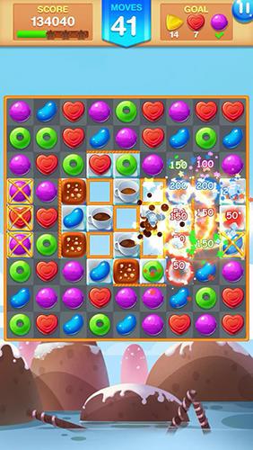 3 Gewinnt-Spiele Candy fever auf Deutsch