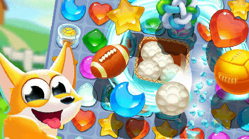 Cute dog: Diamond crush Screenshot