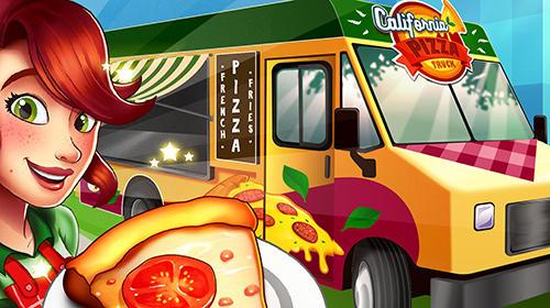 Pizza truck California: Fast food cooking game captura de pantalla 1