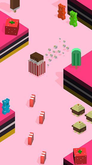 Arcade-Spiele Silly slide: Retro 3D arcade für das Smartphone