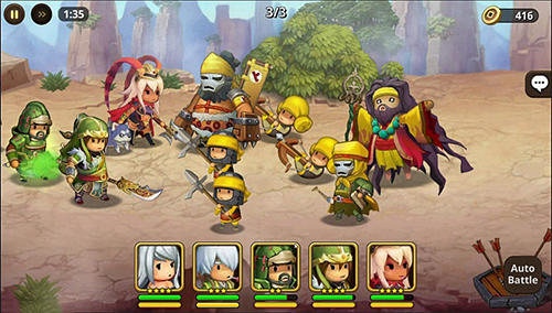 Strategische RPG-Spiele Kingdom story: Brave legion auf Deutsch