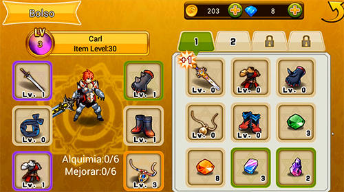 RPG-Spiele Blade of fire: Legend of warrior für das Smartphone