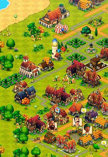 Screenshot Kleinstadt: Farme, Baue, Handle auf dem iPhone